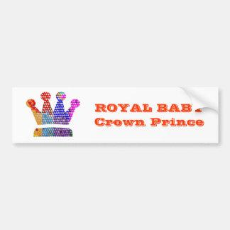 Royal BABY Crown PRINCE Bumper Sticker