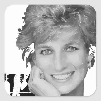 Royal baby - Diana Princess Square Sticker