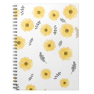 Royal baby florals spiral note book