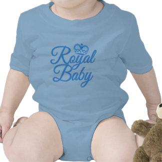 Royal Baby in Blue with Crown Baby Bodysuit