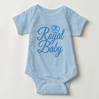 Royal Baby in Blue with Crown Infant Creeper