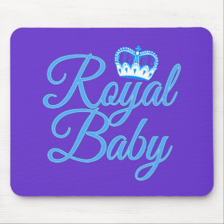 Royal Baby in Blue with Crown Mouse Pad