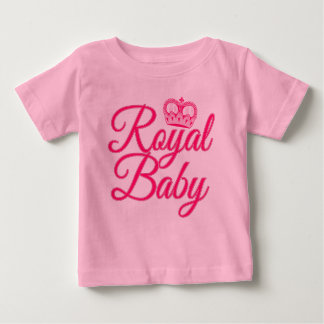 Royal Baby in Pink with Crown Infant T-shirt
