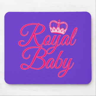 Royal Baby in Pink with Crown Mouse Pad