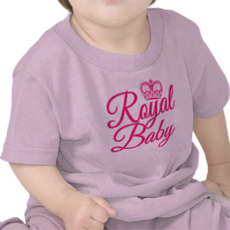 Royal Baby in Pink with Crown T-shirt