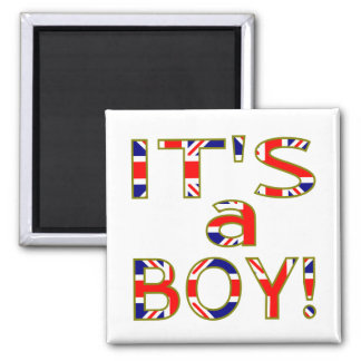 Royal Baby It's a Boy 2 Inch Square Magnet