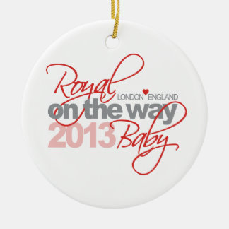 Royal Baby On the Way 2013 Ceramic Ornament