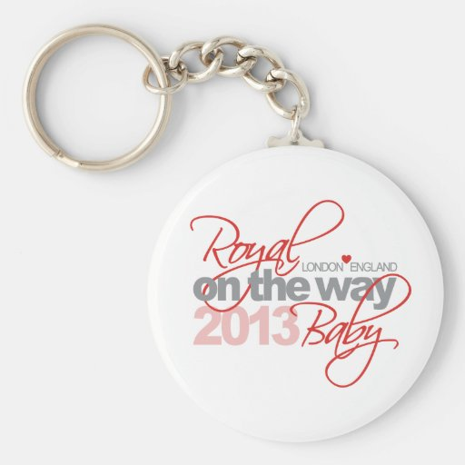 Royal Baby On the Way 2013 Basic Round Button Keychain