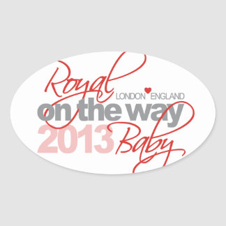 Royal Baby On the Way 2013 Oval Sticker