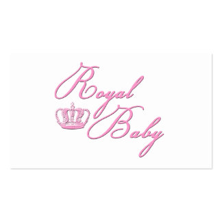 Royal Baby Pink With Crown Business Card