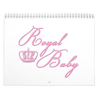 Royal Baby Pink With Crown Calendar