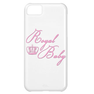 Royal Baby Pink With Crown iPhone 5C Covers