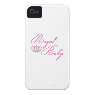 Royal Baby Pink With Crown iPhone 4 Cases