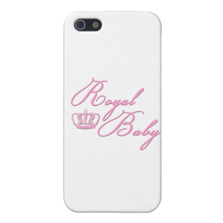 Royal Baby Pink With Crown Covers For iPhone 5