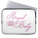 Royal Baby Pink With Crown Laptop Computer Sleeve
