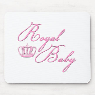 Royal Baby Pink With Crown Mouse Pad