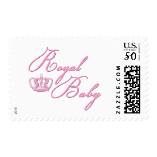 Royal Baby Pink With Crown Postage