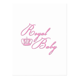 Royal Baby Pink With Crown Post Card