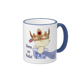 Royal Baby Prince-Born to Rule/Baby Facts Ringer Mug