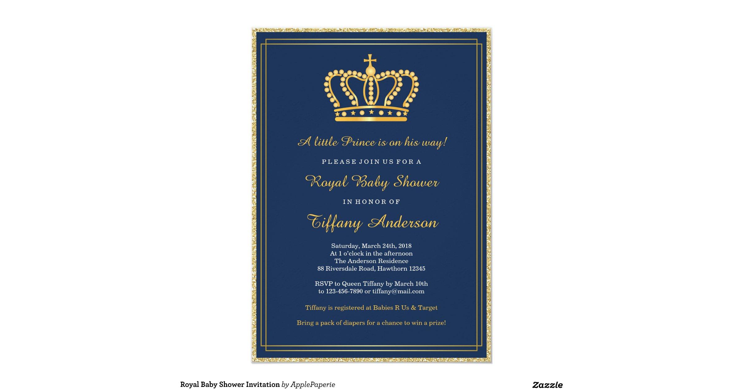 royal baby shower invitation r86badf3f960043b28bb2d0dcd5b6c77f zkrqs