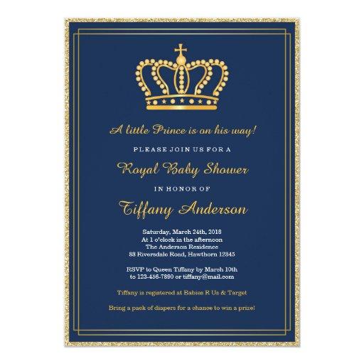 royal baby shower invitation zazzle