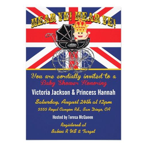 royal baby shower invitation 5 x 7 invitation card zazzle