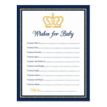 Royal Baby Shower wishes for baby Postcard