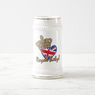 Royal Baby UK Heart Flag Beer Stein