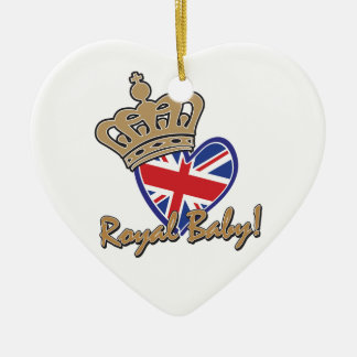 Royal Baby UK Heart Flag Ceramic Ornament