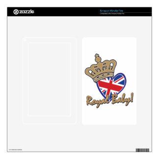 Royal Baby UK Heart Flag Kindle Fire Skins