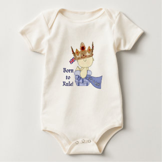 Royal Baby with Crown/Born to Rule! Baby Bodysuit