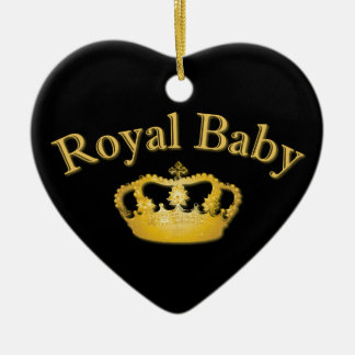 Royal Baby with Golden Crown Ceramic Ornament