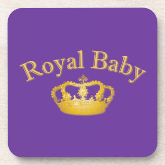 Royal Baby with Golden Crown Coaster