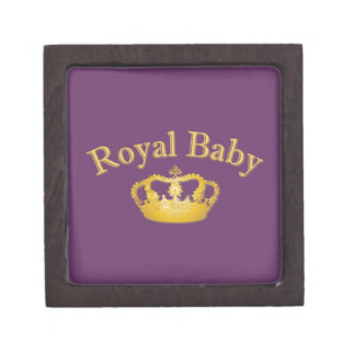 Royal Baby with Golden Crown Gift Box