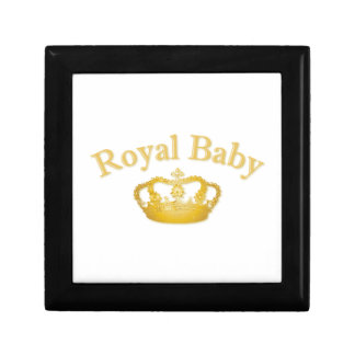 Royal Baby with Golden Crown Jewelry Box