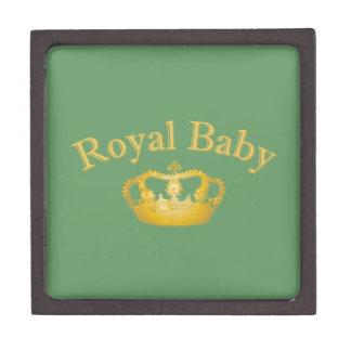 Royal Baby with Golden Crown Keepsake Box