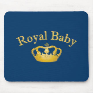 Royal Baby with Golden Crown Mouse Pad