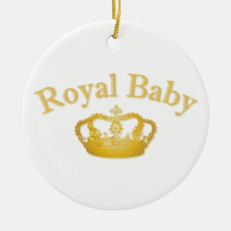 Royal Baby with Golden Crown Ornaments