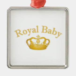 Royal Baby with Golden Crown Christmas Ornament