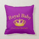 Royal Baby with Golden Crown Pillow