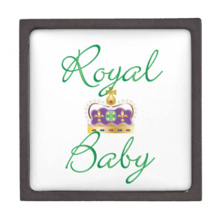 Royal Baby with Purple and Gold Crown Jewelry Box