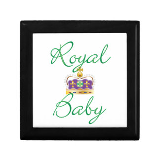 Royal Baby with Purple and Gold Crown Keepsake Box