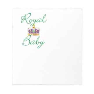 Royal Baby with Purple and Gold Crown Notepad