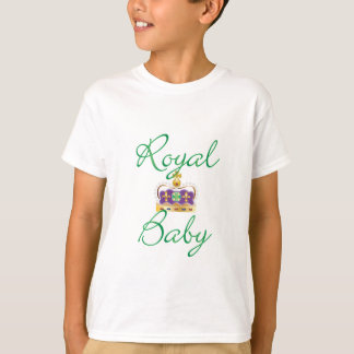 Royal Baby with Purple and Gold Crown T-Shirt
