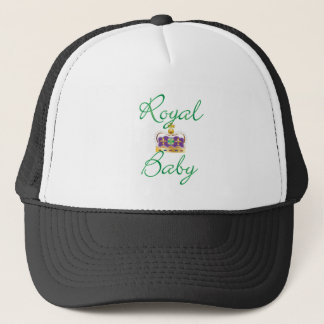 Royal Baby with Purple and Gold Crown Trucker Hat