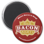 Royal Bacon Society Round Magnet
