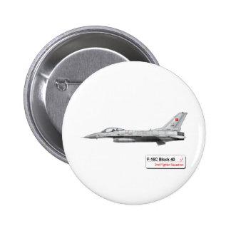 Royal Bahraini Air force F-16 Falcon Pinback Button