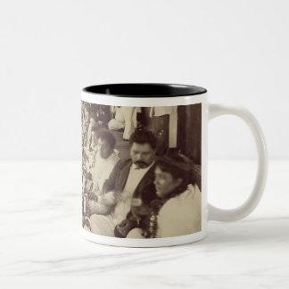 Royal Banquet at King Kalakana's Boat House, c.187 Two-Tone Coffee Mug
