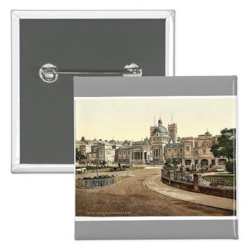 Royal Baths, Harrogate, England rare Photochrom Pin