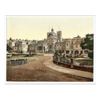 Royal Baths, Harrogate, England rare Photochrom Postcard